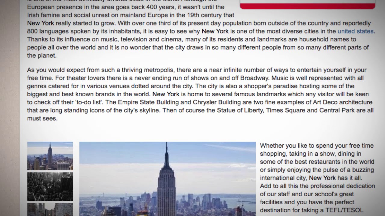 TEFL / TESOL Course in New York City, USA | Teach & Live abroad!