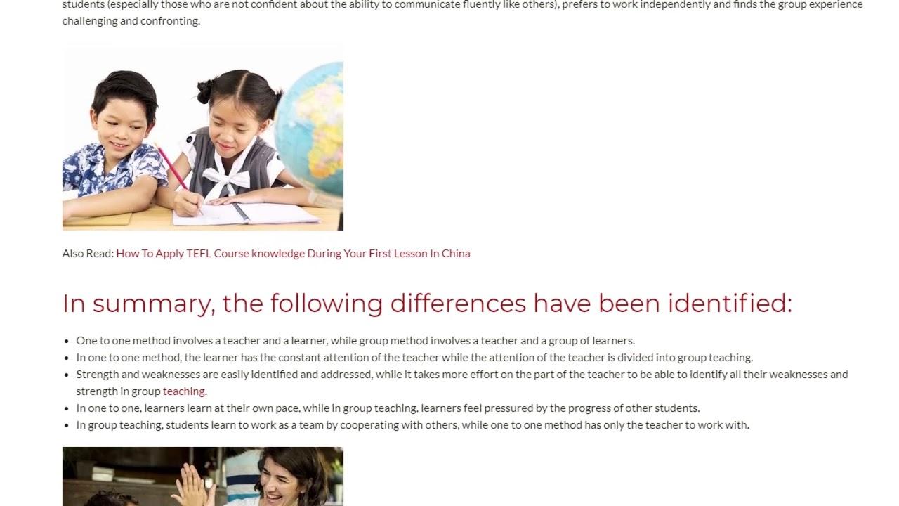 Teaching English to Groups and Individuals | ITTT TEFL BLOG