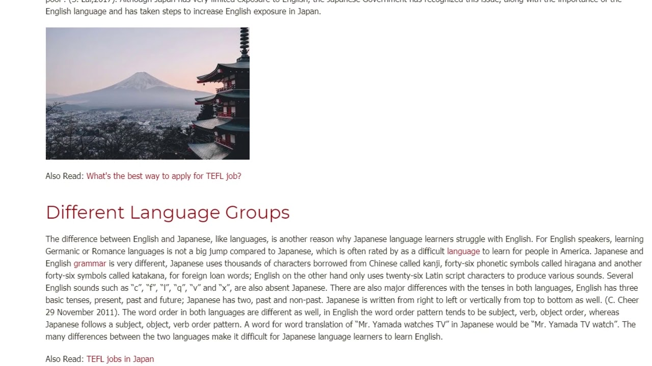 Common Challenges in English for Japanese Native Speakers | ITTT TEFL BLOG
