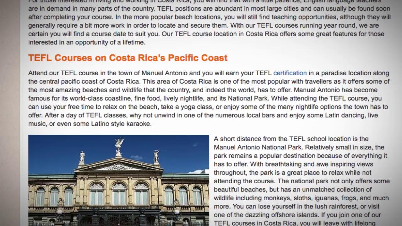 TEFL / TESOL Course in Costa Rica | Teach & Live abroad!
