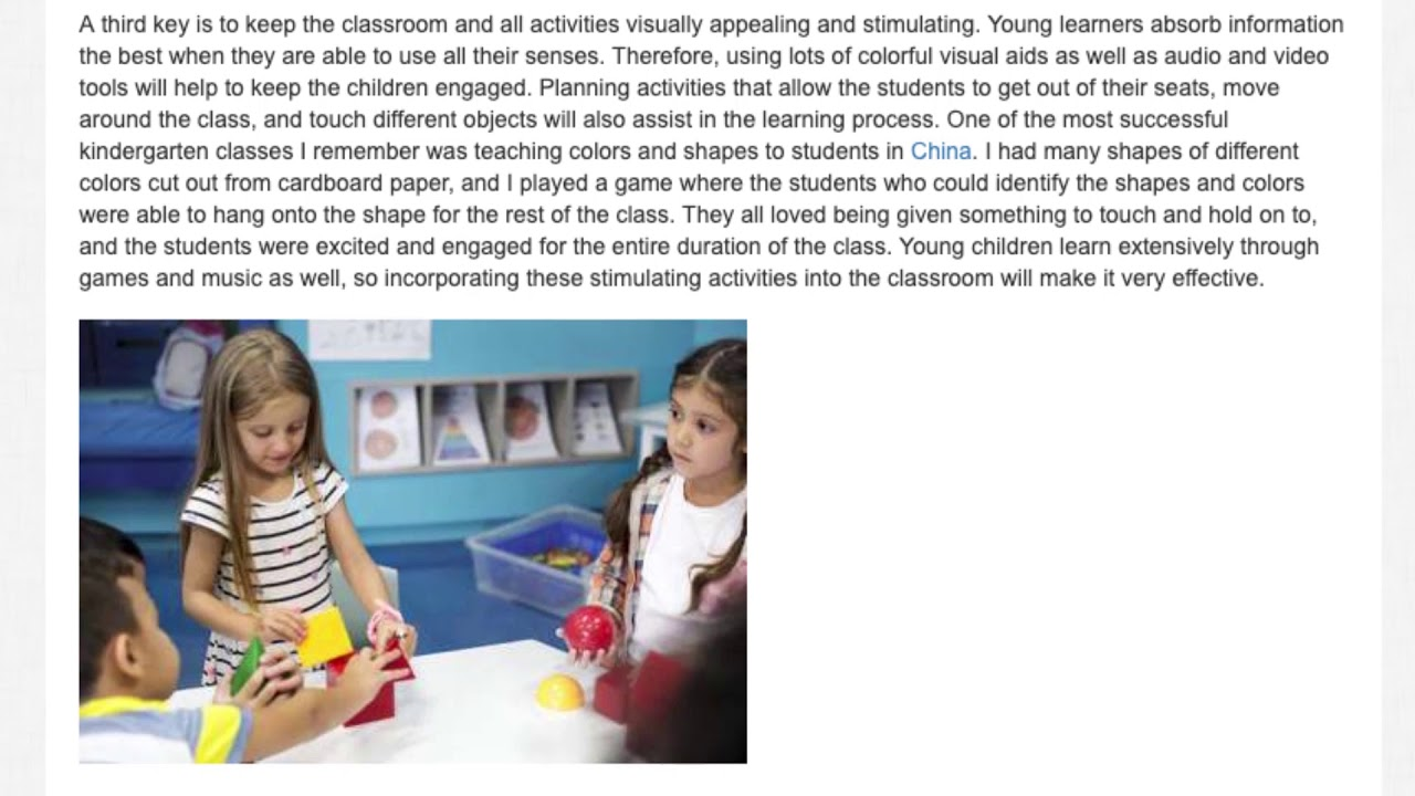 5 Keys to becoming a great EFL Kindergarten Teacher   ITTT   TEFL Blog