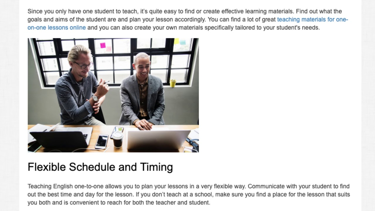Top Tips for Teaching English One-on-One | ITTT TEFL BLOG