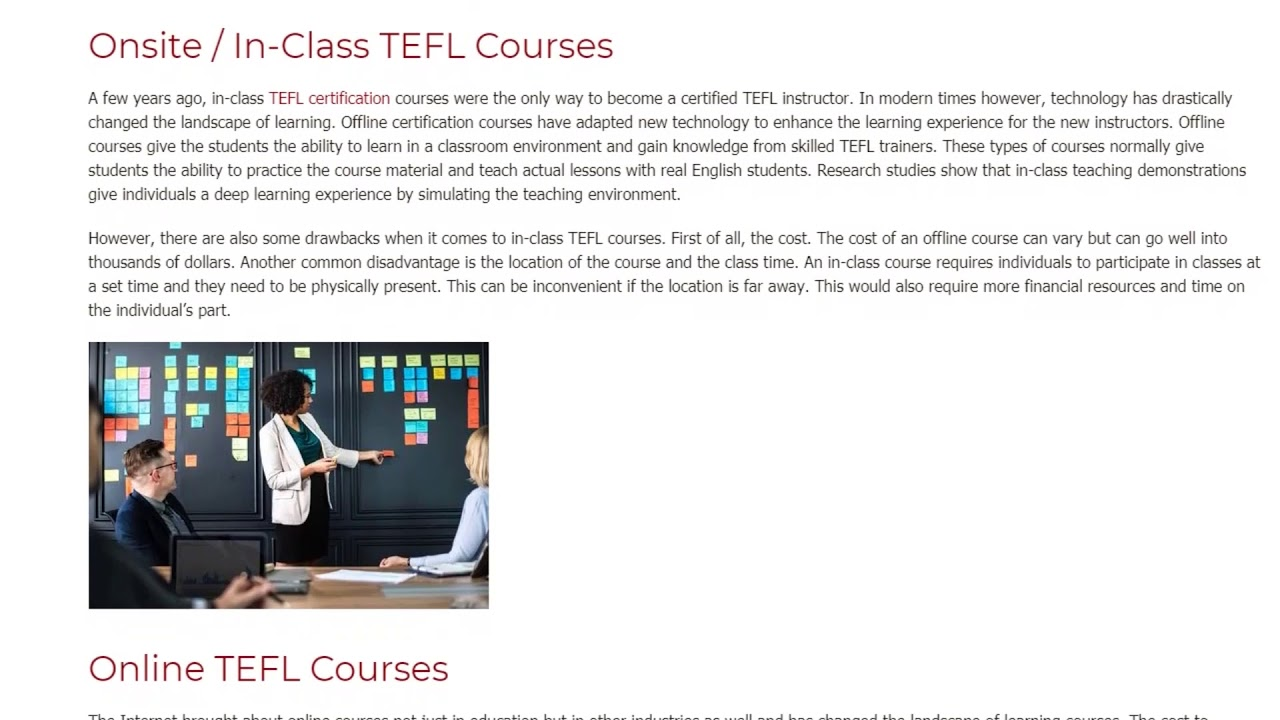 Online TEFL Courses vs. Onsite TEFL Courses | ITTT TEFL BLOG