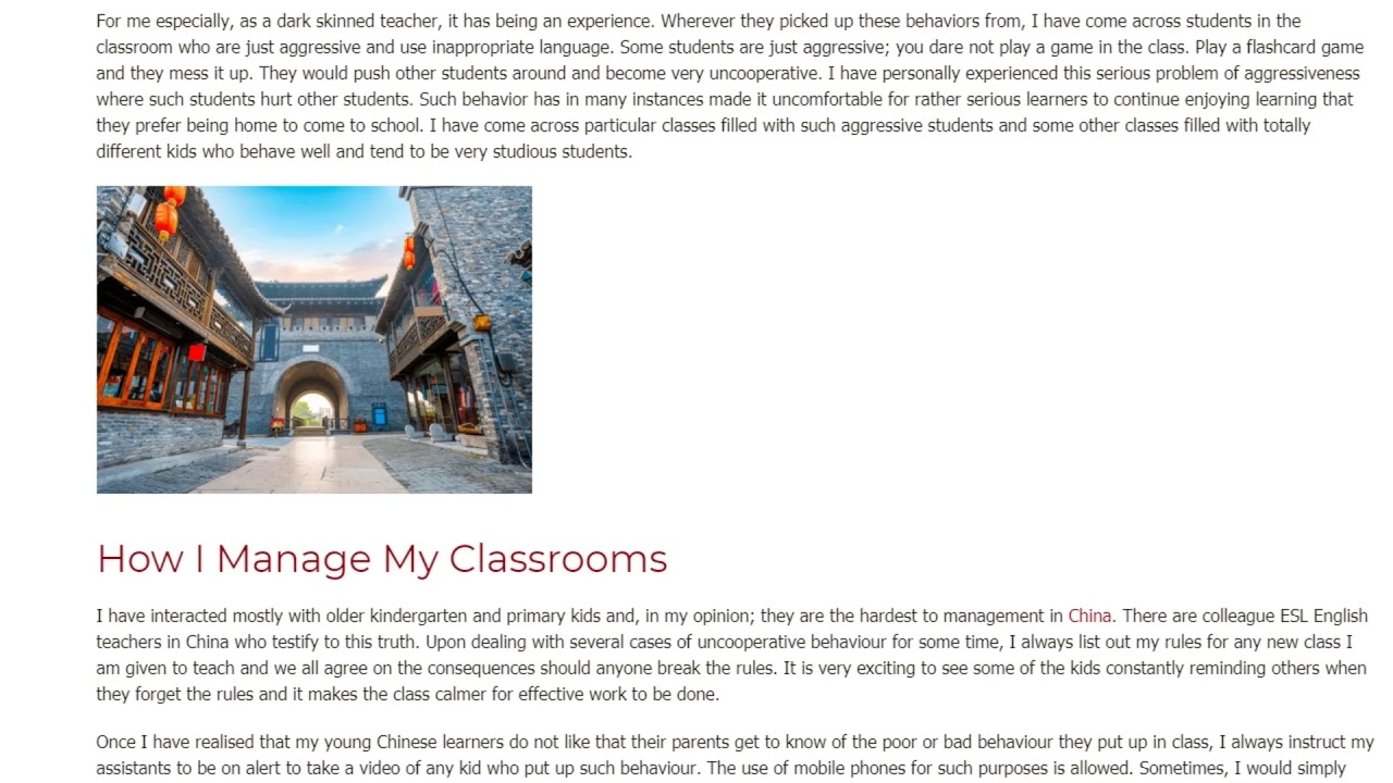 Classroom Management – What is it and how do I implement it   ITTT TEFL BLOG