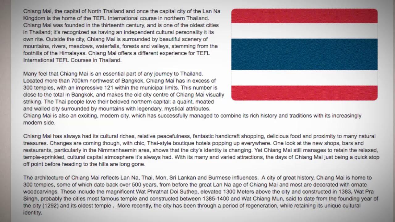 TESOL Course in Chiang Mai, Thailand   Teach & Live abroad!
