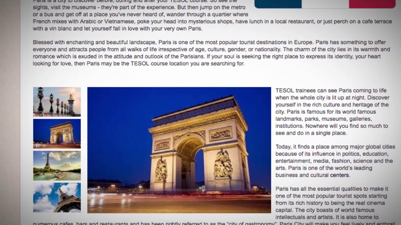 Combined TEFL / TESOL School in Paris, France | Teach & Live abroad!