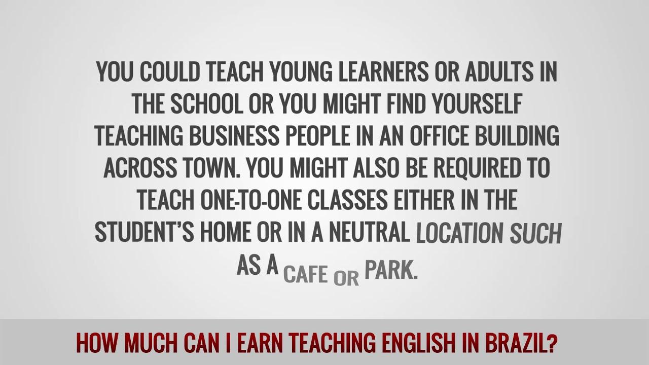ITTT FAQs – How much can I earn teaching English in Brazil?