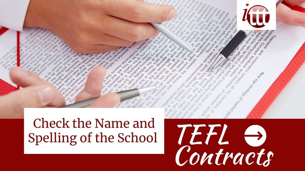 Check the Name of the School | TEFL Contract Tips