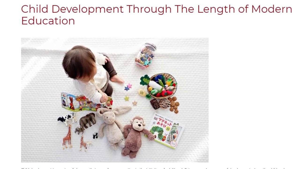 Child Development Through The Length of Modern Education | ITTT TEFL BLOG