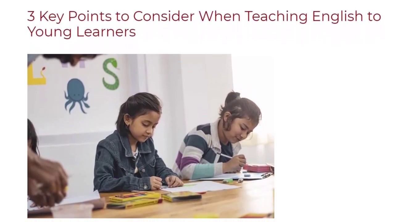 3 Key Points to Consider When Teaching English to Young Learners | ITTT TEFL BLOG