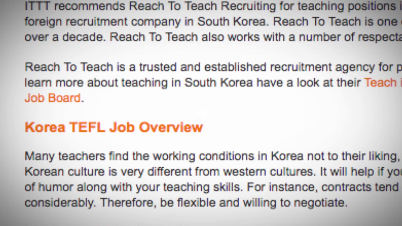 TEFL/TESOL Jobs in South Korea | International TEFL and TESOL Training (ITTT)