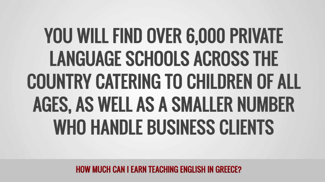 ITTT FAQs – How much can I earn teaching English in Greece?