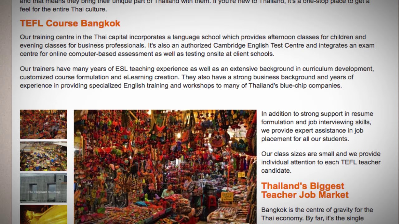 TEFL / TESOL Course in Bangkok, Thailand   Teach & Live abroad!