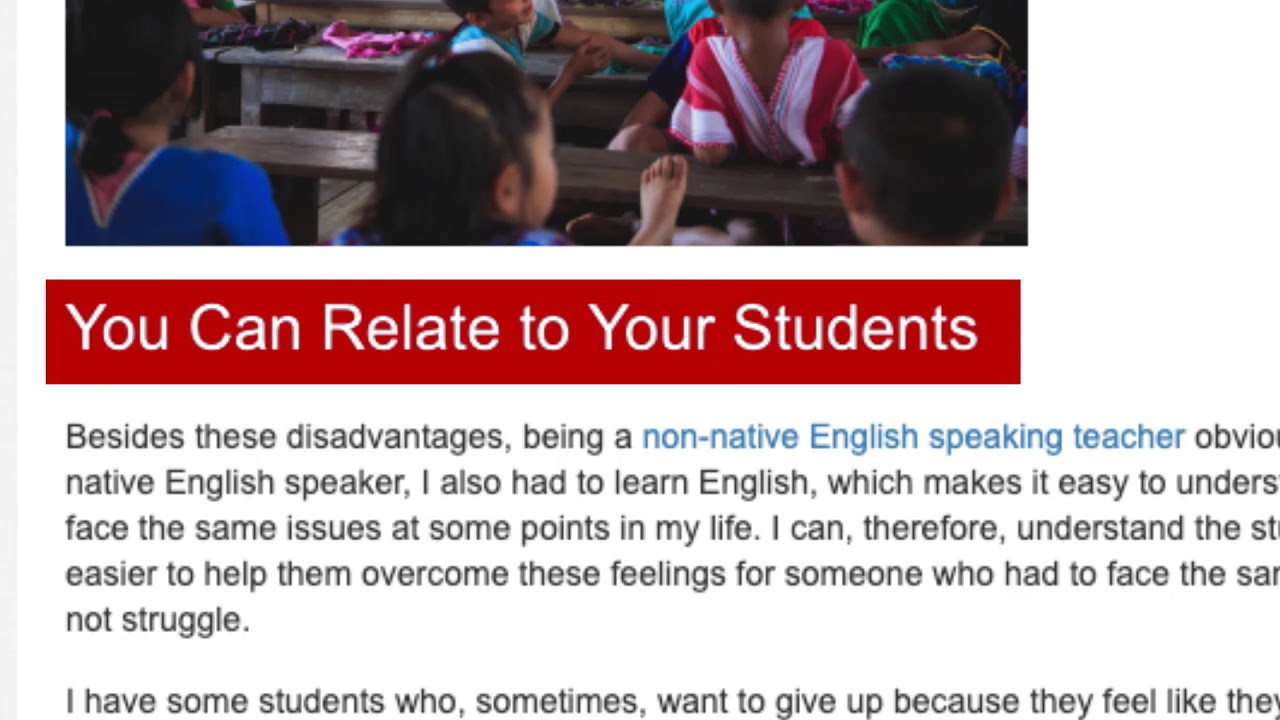 The Truth About TEFL Teaching As a Non-Native English Speaker   ITTT TEFL BLOG
