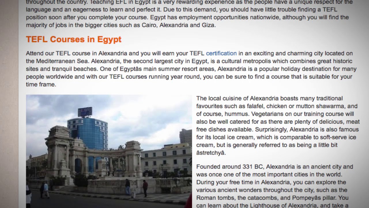 TEFL / TESOL Course in Egypt | Teach & Live abroad!