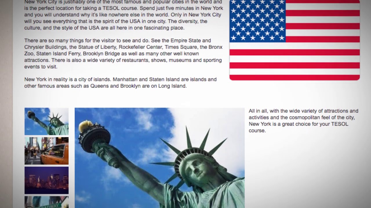TESOL Course in New York City, USA | Teach & Live abroad!