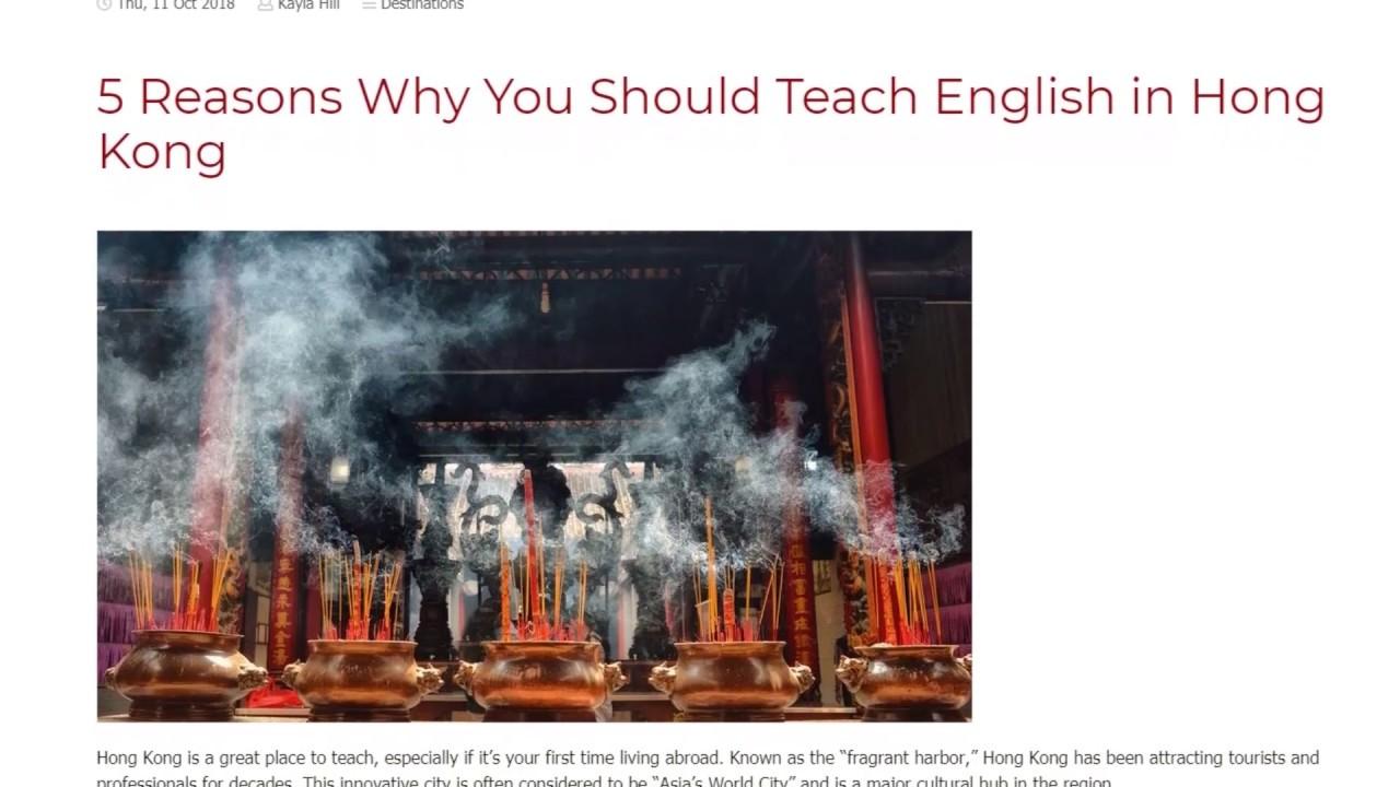 5 Reasons Why You Should Teach English in Hong Kong | ITTT TEFL BLOG
