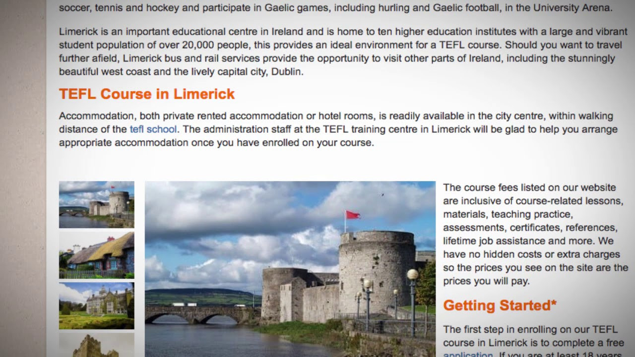 TEFL / TESOL Course in Limerick, Ireland | Teach & Live abroad!