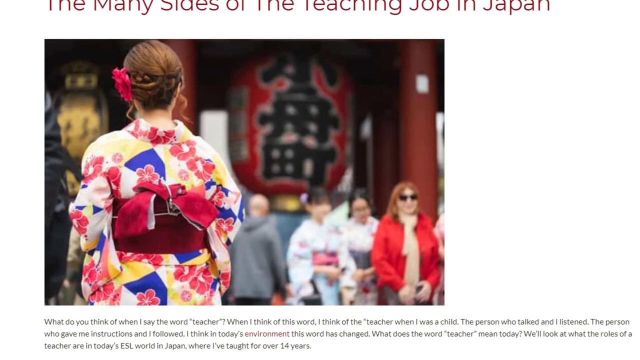 The Many Sides of The Teaching Job in Japan | ITTT TEFL BLOG