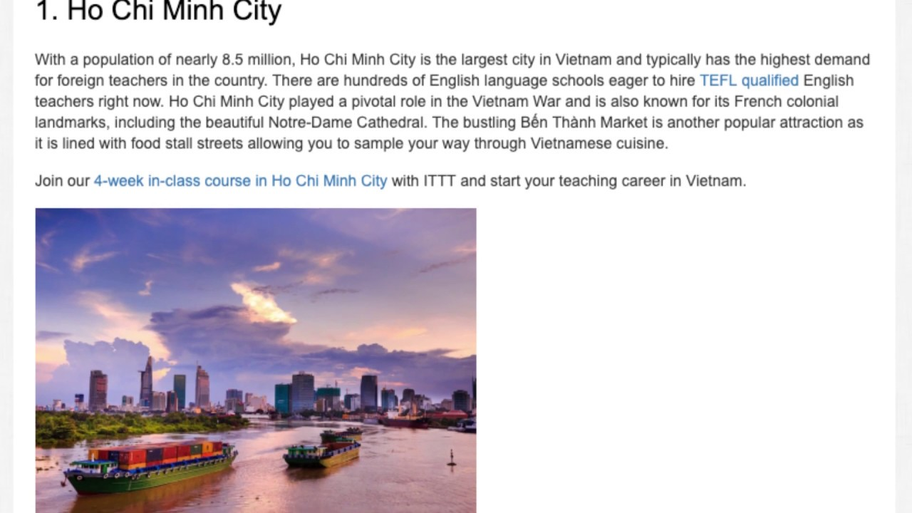The Top 5 Places to Teach English in Vietnam | ITTT TEFL BLOG