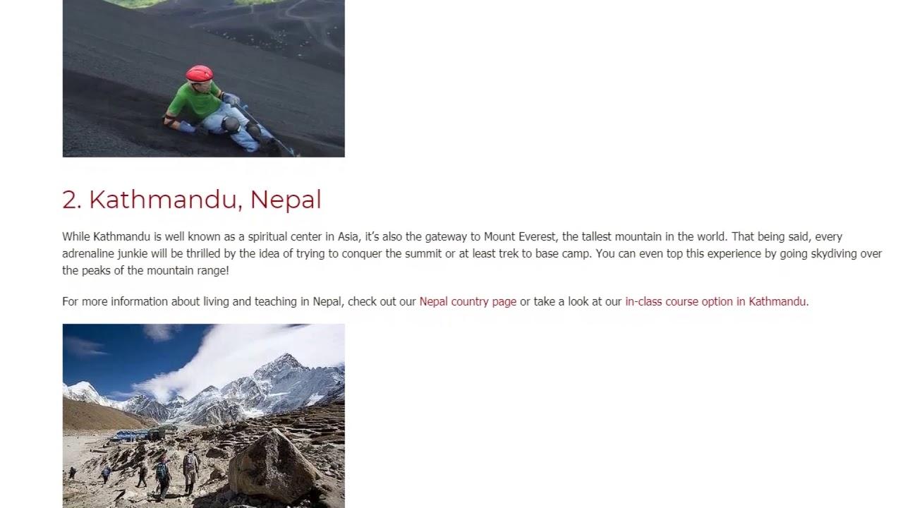 The Top 5 TEFL Destinations for Adrenaline Junkies and Adventure Seekers | ITTT TEFL BLOG