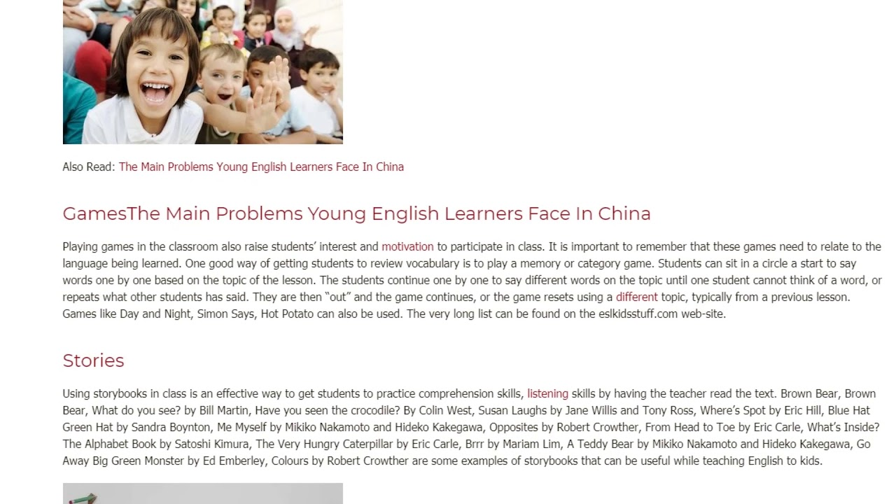 Learning English in Early Childhood | ITTT TEFL BLOG