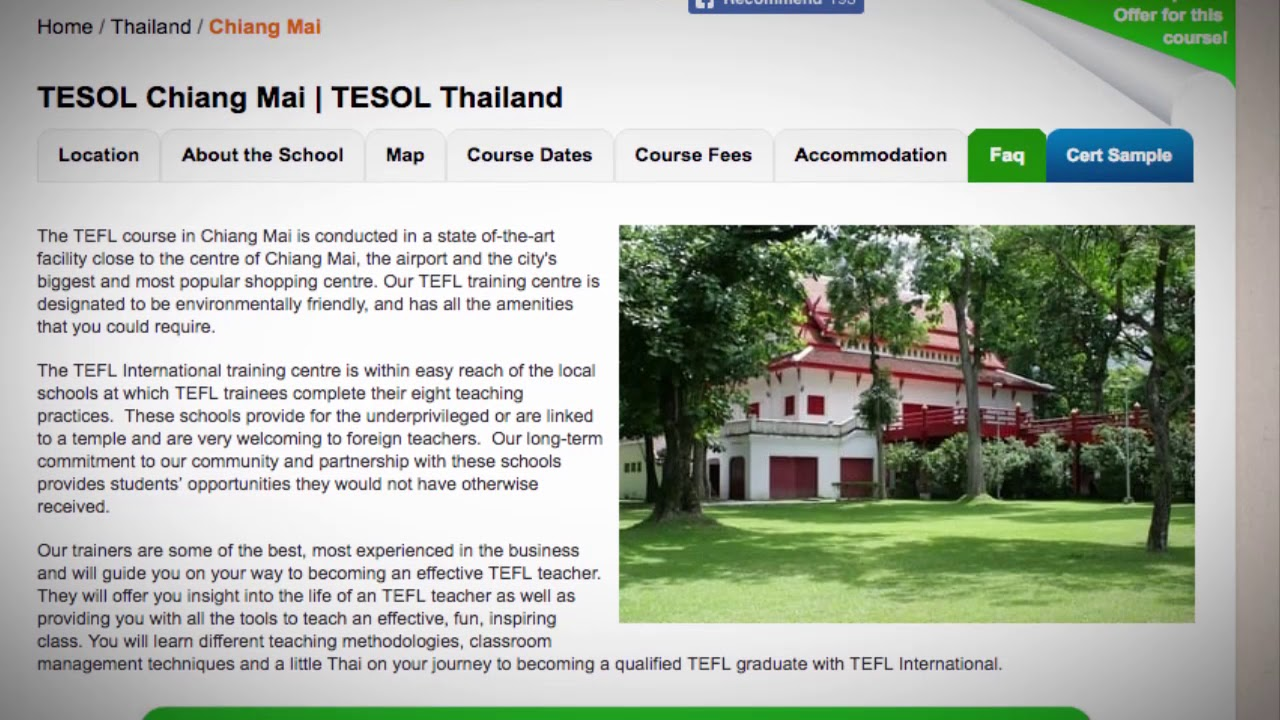 Welcome to Our TESOL School in Chiang Mai, Thailand | Teach & Live abroad!