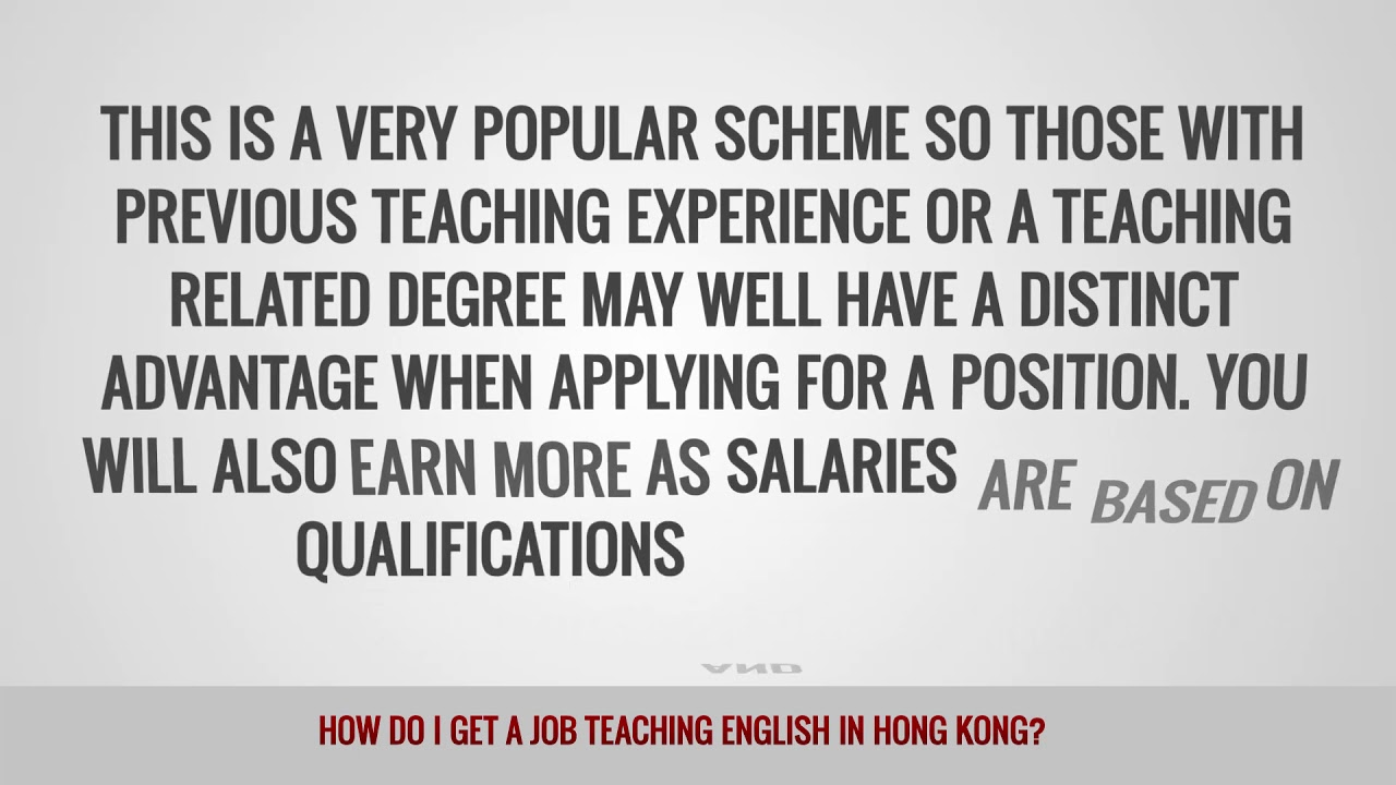ITTT FAQs – How do I get a job teaching English in Hong Kong?