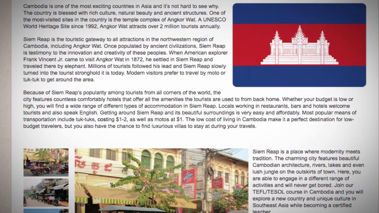 TESOL Course in Siem Reap, Cambodia | Teach & Live abroad!