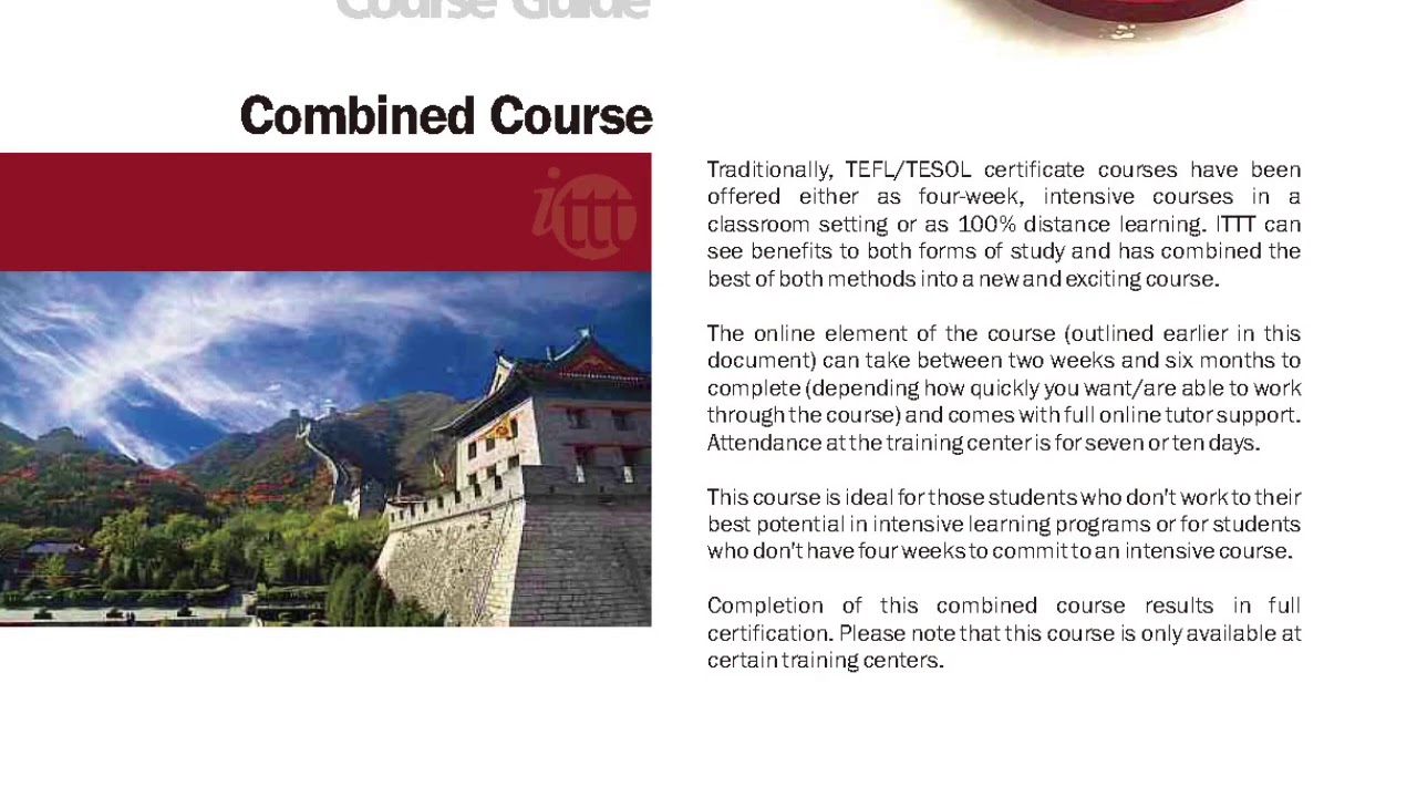 International TEFL and TESOL Training (ITTT) | Combined TEFL and TESOL Courses