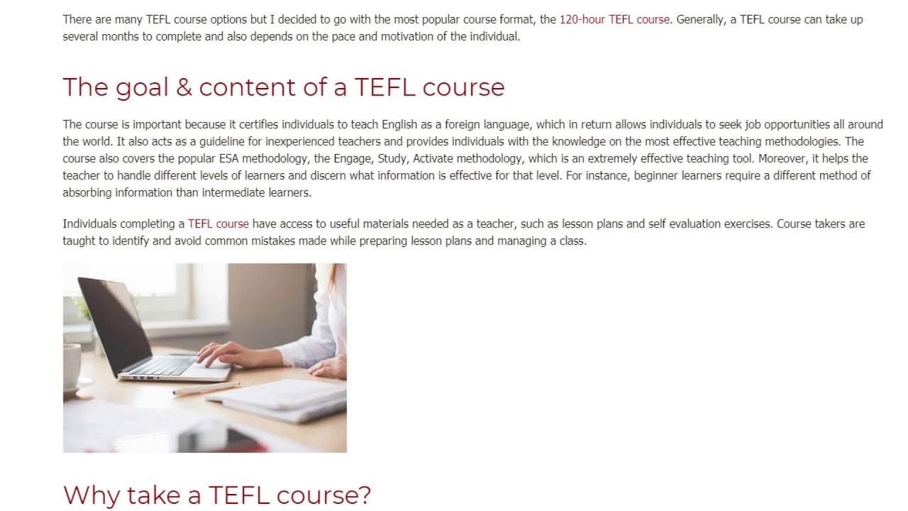Why You Must Take a TEFL Course to Teach English Abroad | ITTT TEFL BLOG