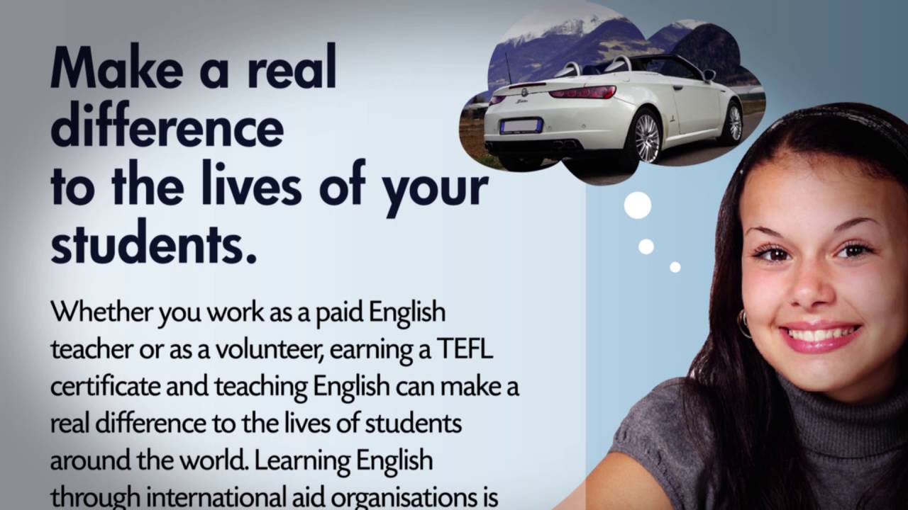 What can you do with a TEFL certificate?