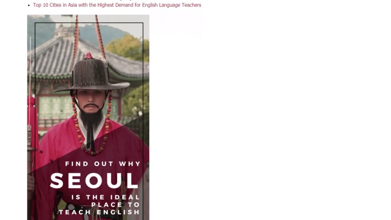 Why Seoul Is the Ideal Place to Teach English in 2018 | ITTT TEFL BLOG