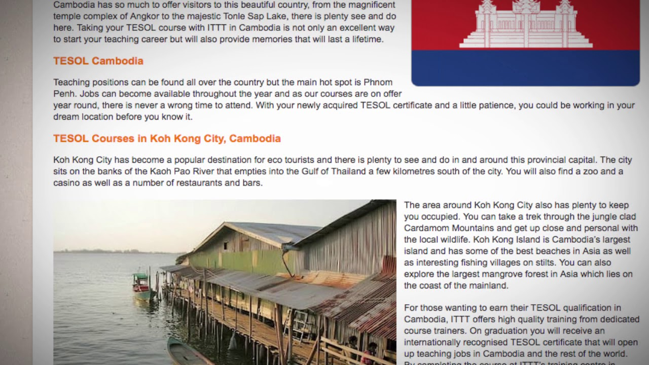 TESOL Course in Cambodia | Teach & Live abroad!