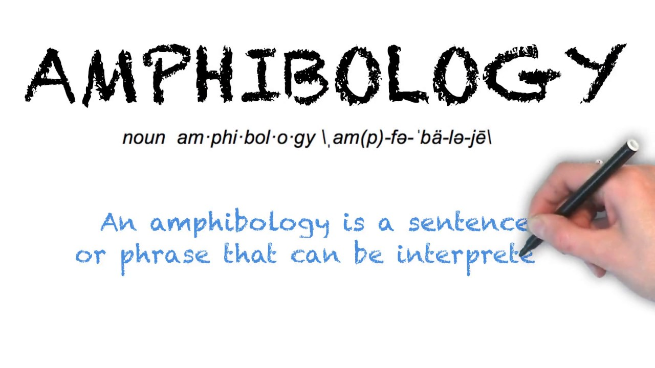 "Ask Linda How To Pronounce ""Amphibology"""