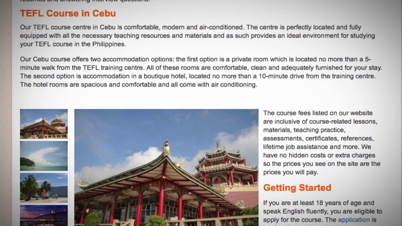 TEFL / TESOL Course in Cebu, Philippines | Teach & Live abroad!