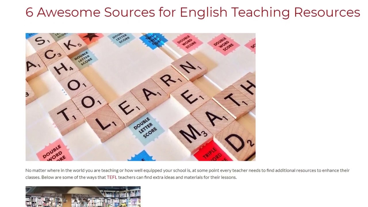 6 Awesome Sources for English Teaching Resources | ITTT TEFL BLOG