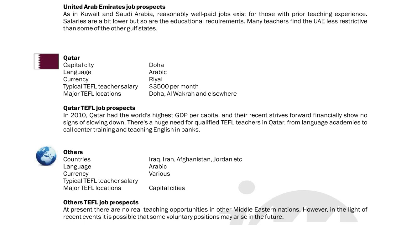 TEFL/TESOL Guide – UAE and Qatar | International TEFL and TESOL Training (ITTT)