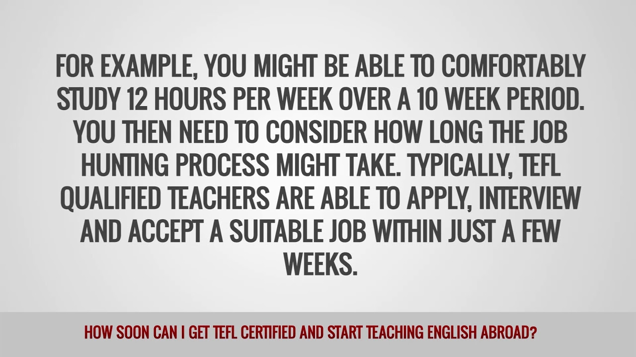 ITTT FAQs – How soon can I get TEFL certified and start teaching English abroad?
