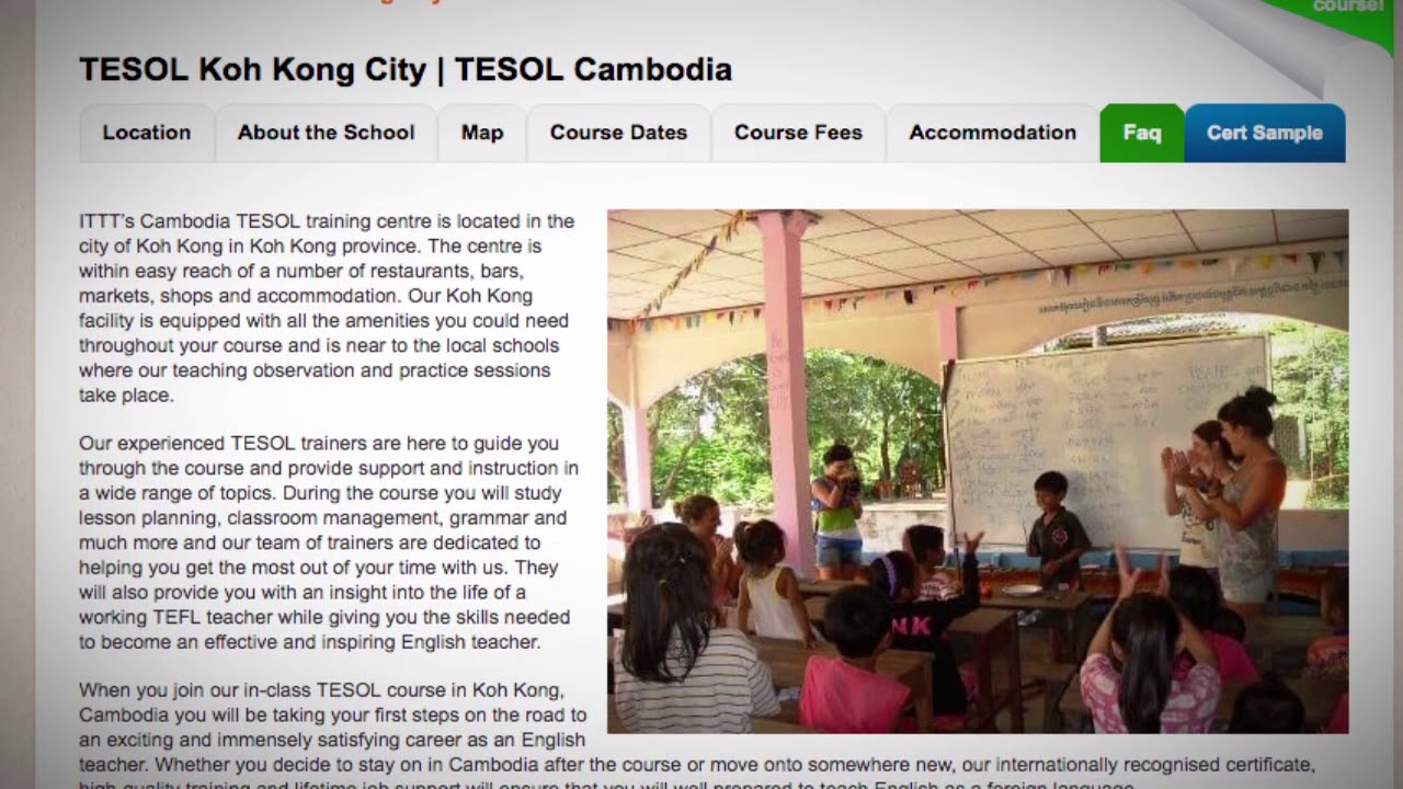 Welcome to Our TESOL School in Koh Kong City, Cambodia | Teach & Live abroad!