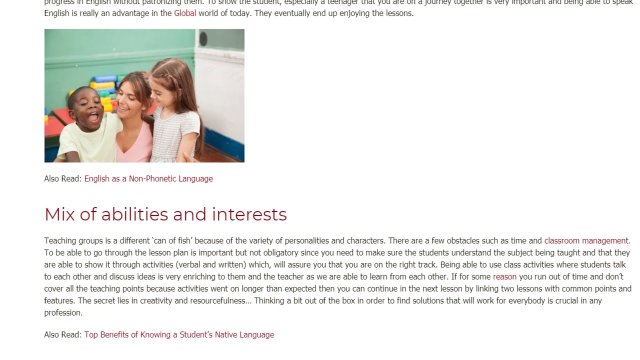 My Experience of Teaching One Student and a Group in France   ITTT TEFL BLOG