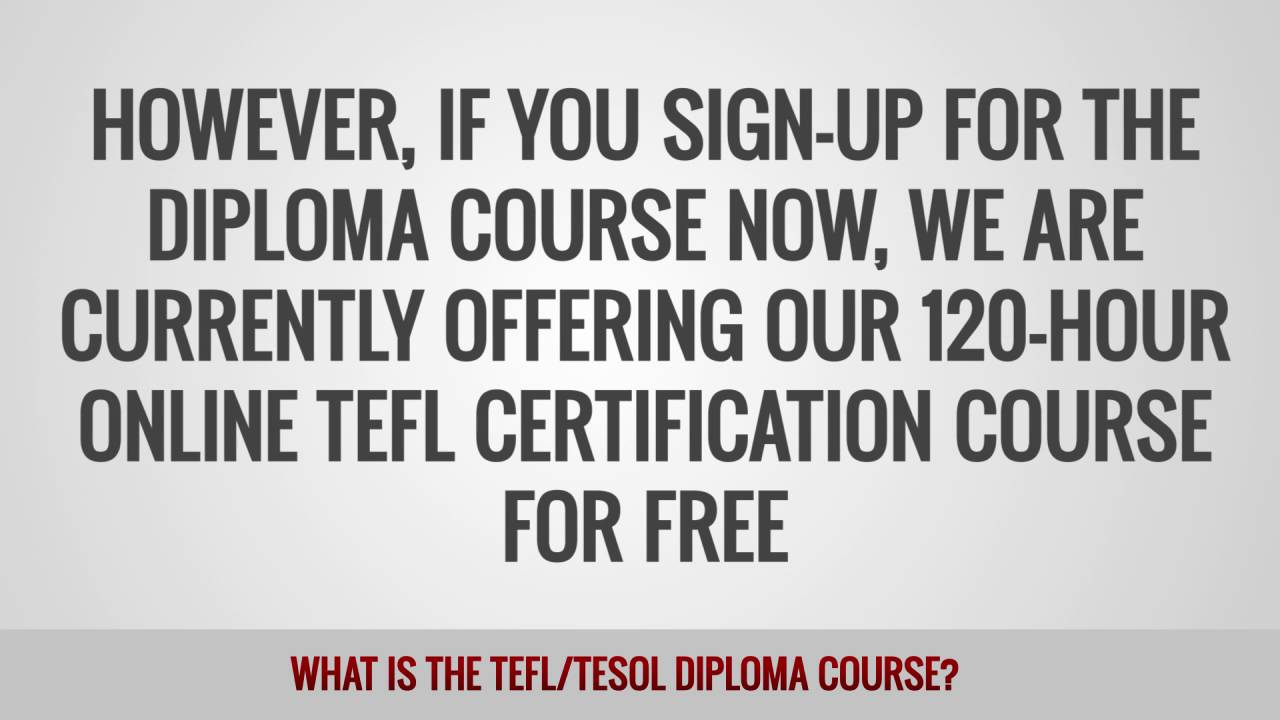ITTT FAQs – What is the TEFL TESOL diploma course?