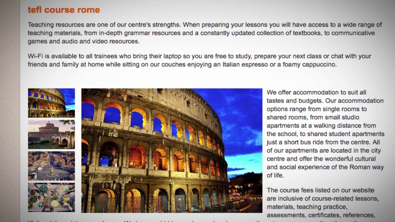TEFL / TESOL Course in Rome, Italy   Teach & Live abroad!