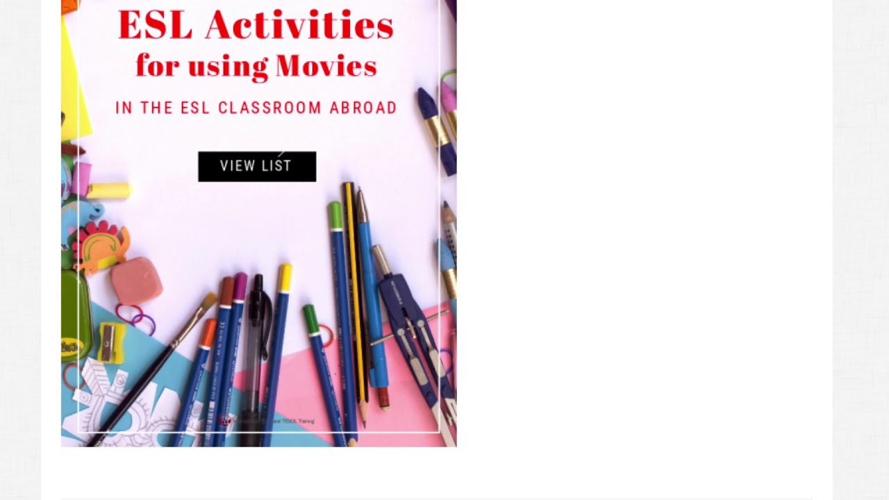 5 Activities for Using Movies in the ESL Classroom | ITTT TEFL BLOG