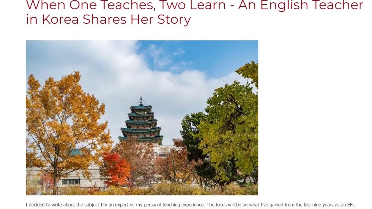 When One Teaches, Two Learn – An English Teacher in Korea Shares Her Story   ITTT TEFL BLOG