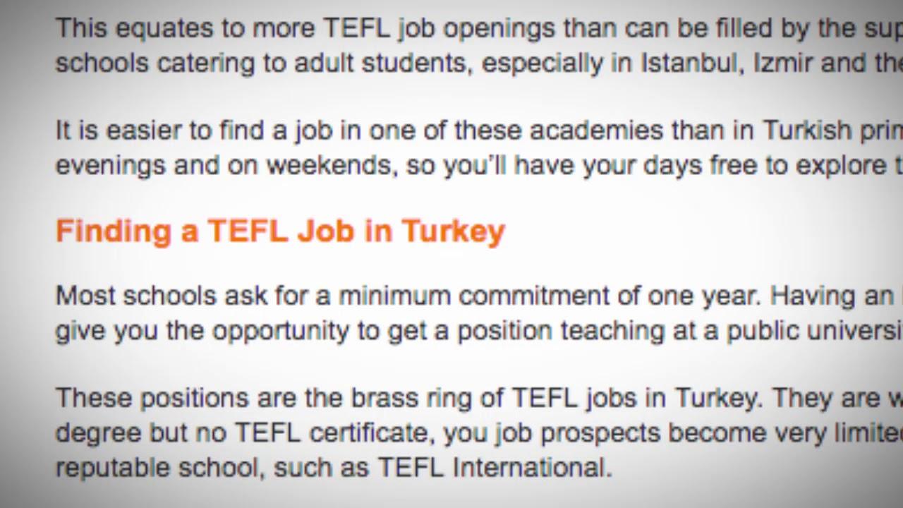 TEFL/TESOL Jobs in Turkey   International TEFL and TESOL Training (ITTT)