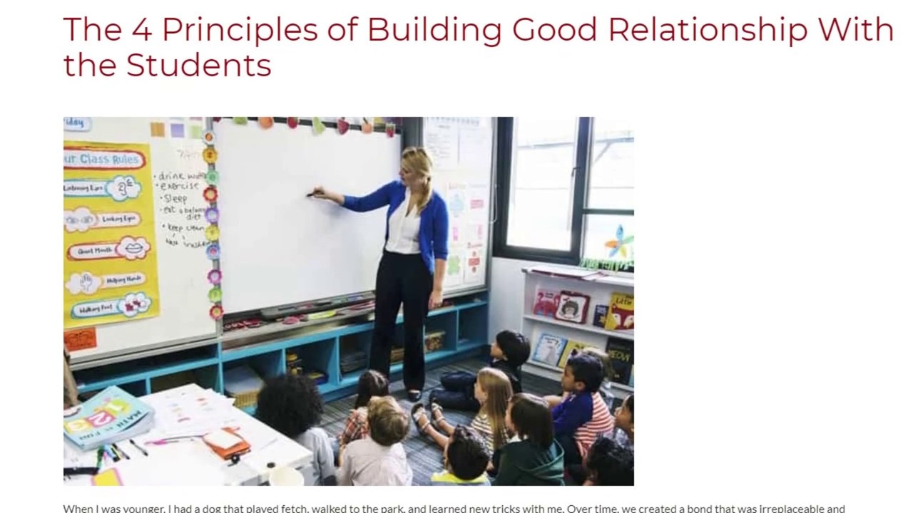 The 4 Principles of Building Good Relationship With the Students | ITTT TEFL BLOG