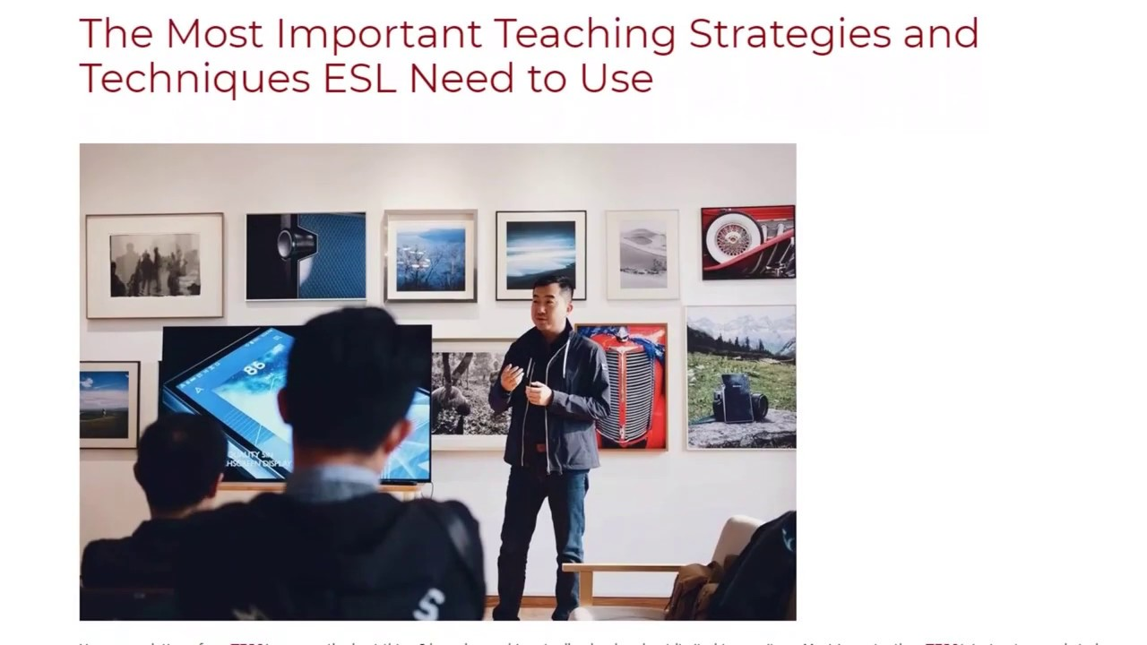 The Most Important Teaching Strategies and Techniques ESL Need to Use | ITTT TEFL BLOG