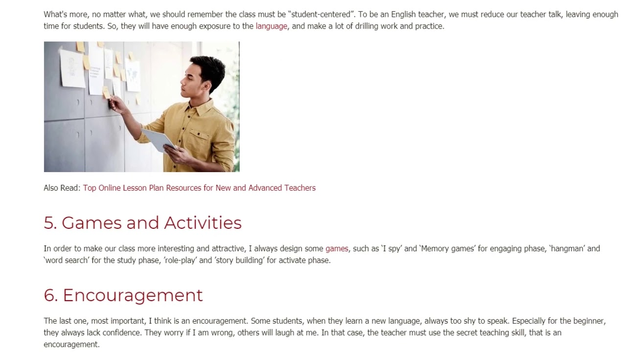 6 Teaching Skills to Support Your Students Learning Process | ITTT TEFL BLOG