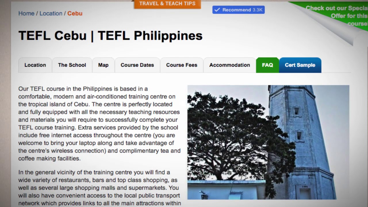 Welcome to Our TEFL / TESOL School in Cebu, Philippines | Teach & Live abroad!